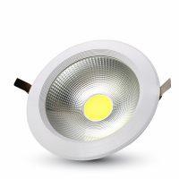 V-TAC LED MÉLYSUGÁRZÓ / 20W / kör / 2400 Lumen / VT-26100 nappali fehér 1274