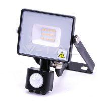 V-TAC LED MOZGÁSÉRZÉKELŐS REFLEKTOR / Samsung chip / 10W / fekete / VT-10-S meleg fehér 436