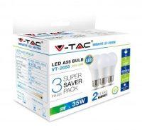 V-TAC LED IZZÓ szett / 3db / E27 / 5W / hideg fehér 7268