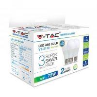 V-TAC LED IZZÓ szett / 3db / E27 / 11W / nappali fehér 7353