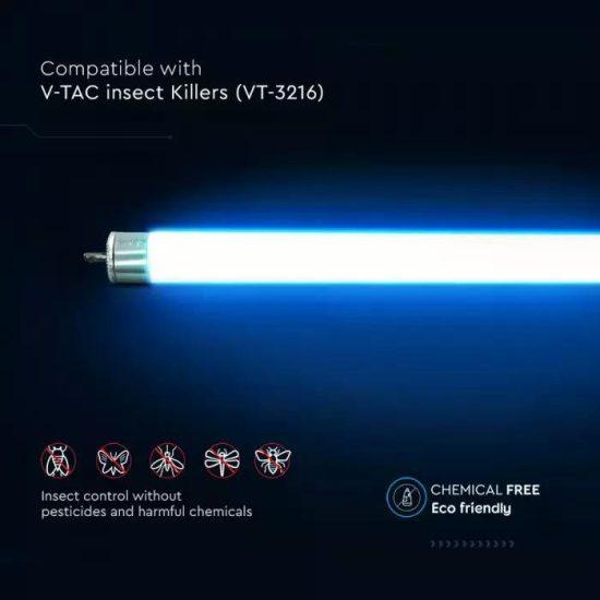V-TAC FÉNYCSŐ ROVARCSAPDÁHOZ / 8W / 365 nm / G5 foglalat / T5 fénycső / VT-3216 11215