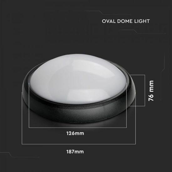 V-TAC LED MENNYEZETI LÁMPA / 8W / OVÁL/ VT-8014 hideg fehér 1268