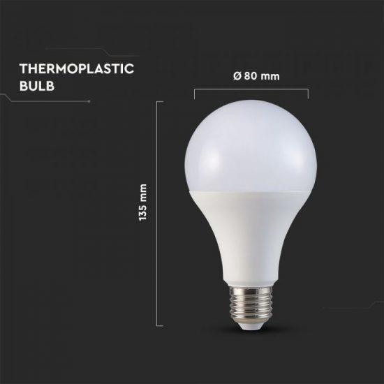 V-TAC LED IZZÓ / E27 / Samsung chip / 18W / VT-298 nappali fehér 127
