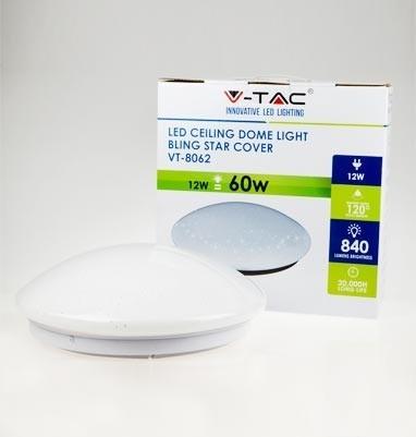 V-TAC LED MENNYEZETI LÁMPA / 12W / KÖR / VT-8062 meleg fehér 1373