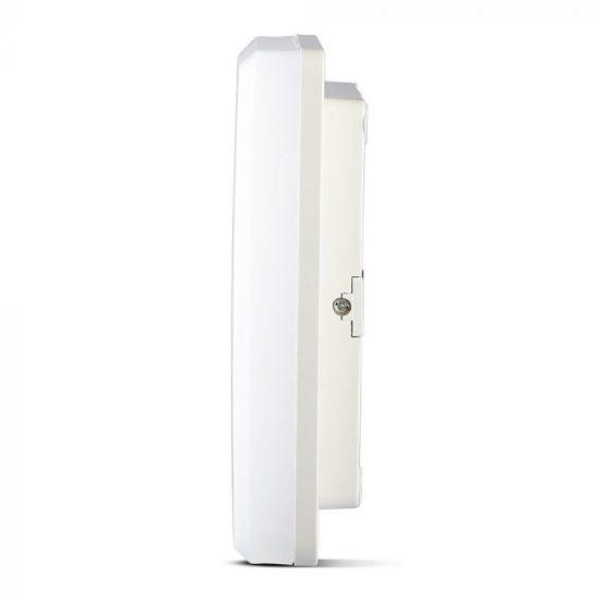 V-TAC LED MENNYEZETI LÁMPA / 15W / NÉGYSZÖG / VT-8033 meleg fehér 1390