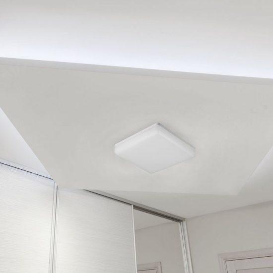 V-TAC LED MENNYEZETI LÁMPA / NÉGYSZÖG / 25W / VT-8066 / meleg fehér 13959