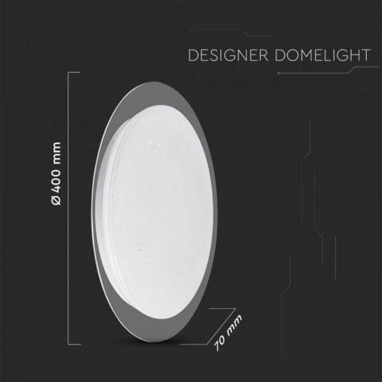 V-TAC LED DESIGN MENNYEZETI LÁMPA / 40W / Dimmelhető / 3 in 1 vezérlővel / VT-8401 14741