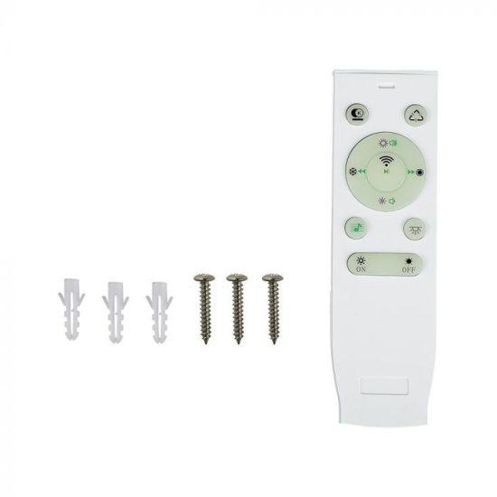 V-TAC LED DESIGN MENNYEZETI LÁMPA / 36W / Dimmelhető / Beépített hangszóró/ RGB + 3 in 1 vezérlővel / VT-5500 1490