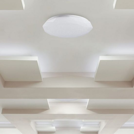 V-TAC LED DESIGN MENNYEZETI LÁMPA / 40W / Csillogó hatás / Dimmelhető / 3 in 1 vezérlővel / VT-8404 14931