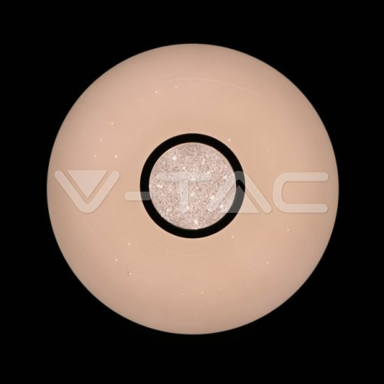 V-TAC LED DESIGN MENNYEZETI LÁMPA / 40W / Csillogó hatás / Dimmelhető / 3 in 1 vezérlővel / VT-8405 14941