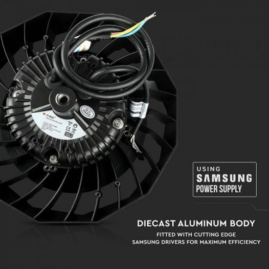 V-TAC LED CSARNOKVILÁGÍTÁS / Samsung chip / fekete / 100W / hideg fehér / VT-9-113 20025