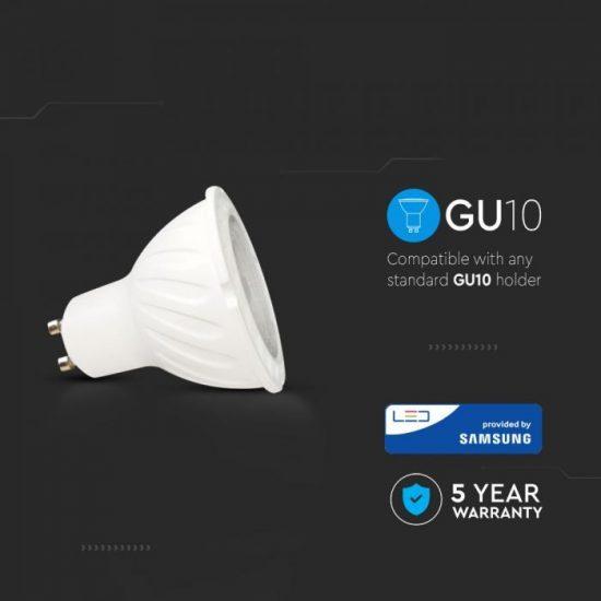 V-TAC LED SPOT / GU10 / 6W / 10° / 3000K - meleg fehér / 500lumen / Samsung chip / VT-249 20026
