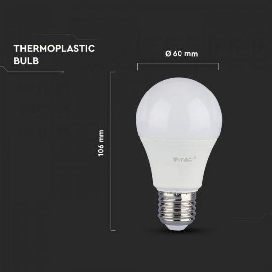 V-TAC LED IZZÓ / E27 / Samsung chip / 9W / VT-210 hideg fehér 230