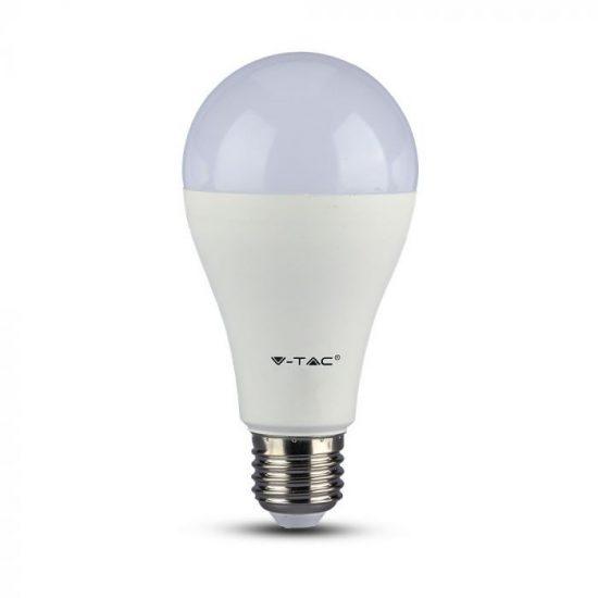 V-TAC LED IZZÓ AKKUMULÁTORRAL / E27 foglalattal / A70 típus / 9W / meleg fehér - 3000K / 806lumen / Samsung chip / VT-2309 2371