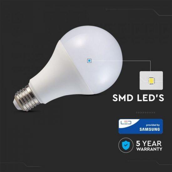 V-TAC LED IZZÓ / E27 foglalat / A80 típus / 20W / nappali fehér - 4000K / 2452lumen / Samsung chip / VT-233 238