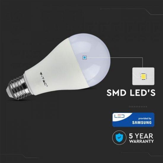 V-TAC LED IZZÓ / E27 / Samsung chip / 12W / VT-295 nappali fehér 250