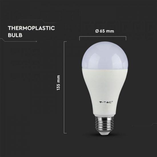 V-TAC LED IZZÓ / E27 / Samsung chip / 12W / VT-295 hideg fehér 251