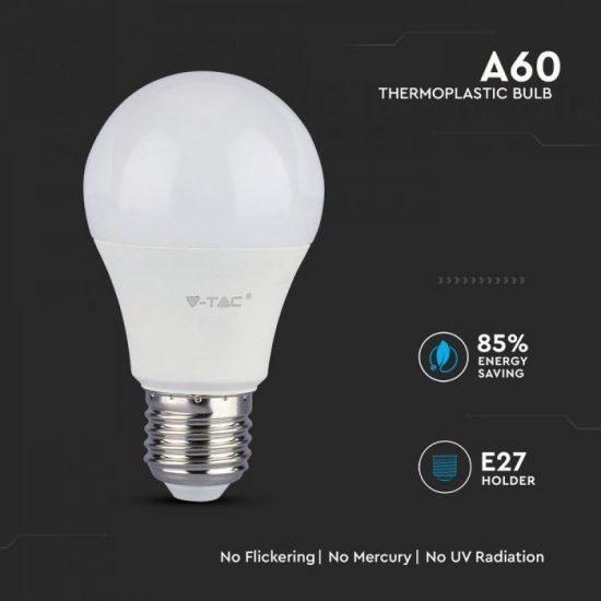 V-TAC LED IZZÓ / E27 / Samsung chip / 8.5W / VT-285 meleg fehér 252