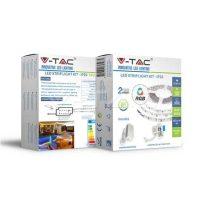 V-TAC RGB színes beltéri LED szalag szett 5m (60LED/m) 5050/ VT-5050 / 2558