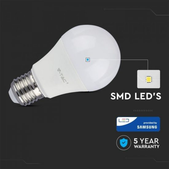 V-TAC LED IZZÓ / E27 / Samsung chip / 6.5W / VT-265 hideg fehér 257