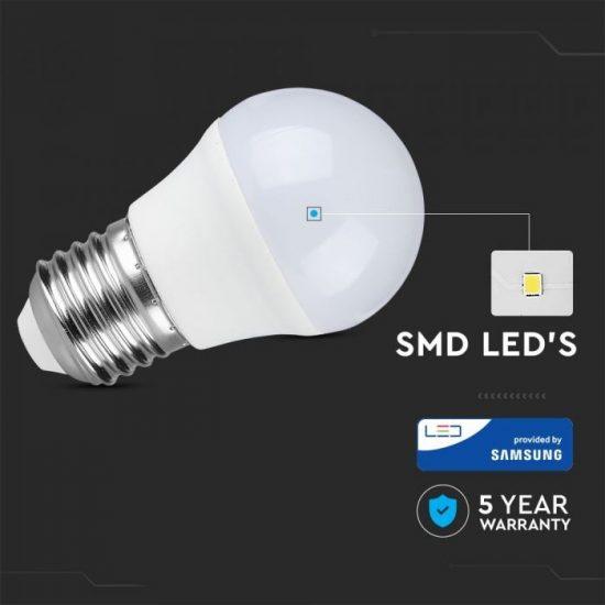 V-TAC LED IZZÓ / E27 / Samsung chip / 4.5W / VT-245 meleg fehér 261