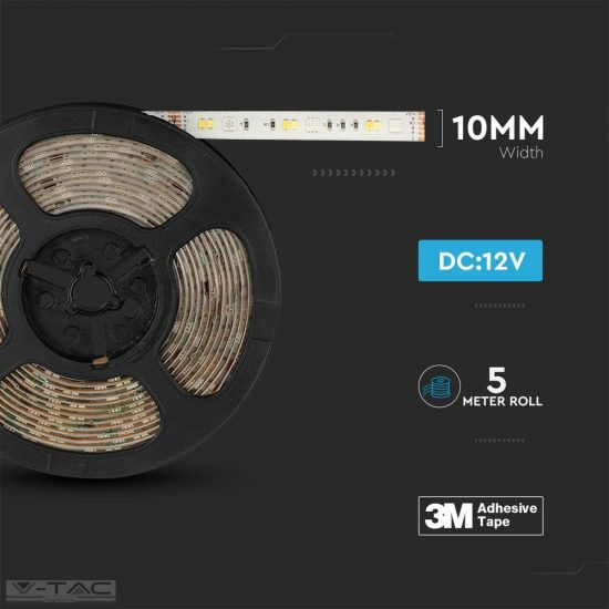 V-TAC RGB+CCT LED szalag szett wifis smart vezérlővel és tápegységgel IP65 - 2628