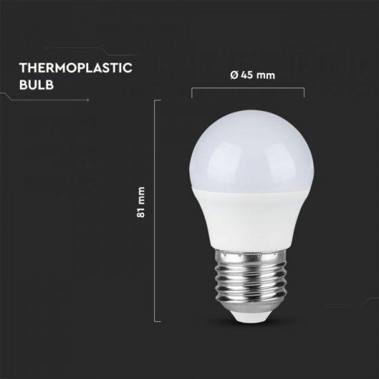 V-TAC LED IZZÓ / E27 / Samsung chip / 4.5W / VT-245 nappali fehér 262