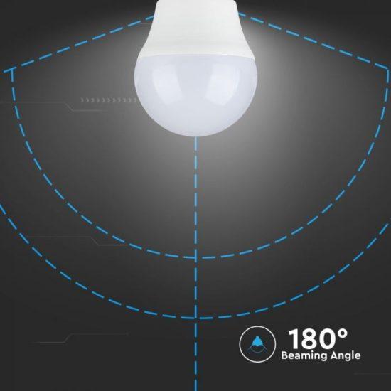 V-TAC LED IZZÓ CSOMAG 6 DB / E27 foglalat / G45 típus / 5,5W / hideg fehér - 6400K / 470lumen / VT-2256 2732