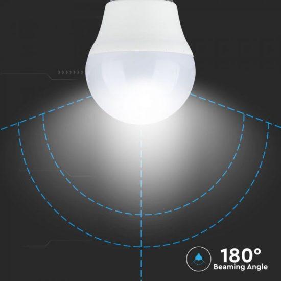 V-TAC LED IZZÓ TÁVIRÁNYÍTÓVAL / E27 foglalat / G45 típus / 3,5W / meleg fehér - 3000K + RGB / 320lumen / Dimmelhető / VT-2224 2772