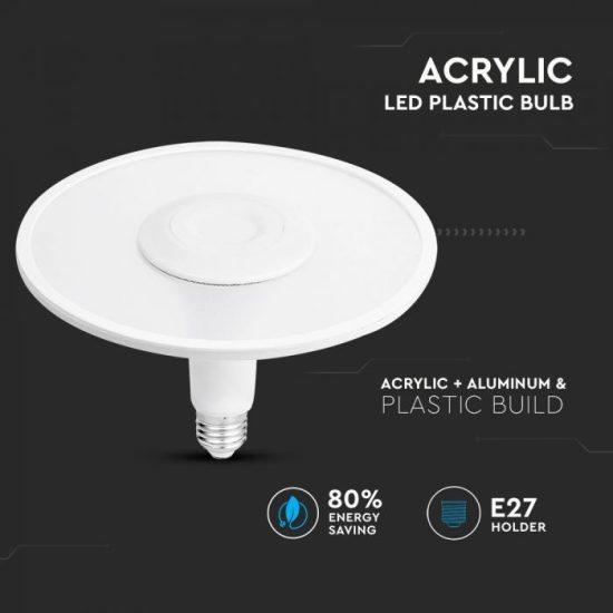 V-TAC LED IZZÓ / E27 foglalattal / F190 típus / 11W / nappali fehér - 4000K / 900lumen / Samsung chip / VT-2311 2782