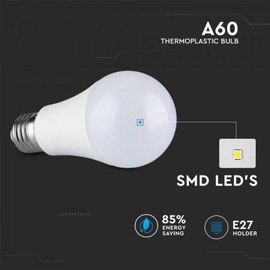 V-TAC LED IZZÓ / E27 foglalat / A60 típus / 6,5W / nappali fehér - 4000K / 1055lumen / VT2307 2807