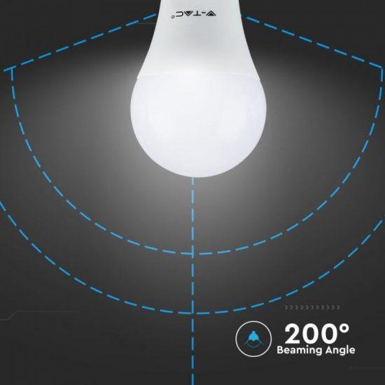 V-TAC LED IZZÓ / E27 foglalat / A60 típus / 6,5W / hideg fehér - 6400K / 1055lumen / VT2307 2808