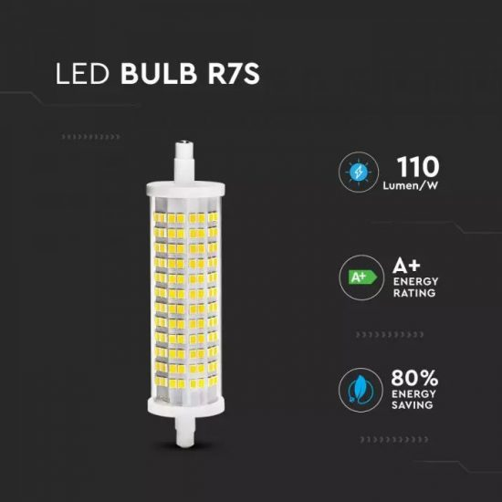 V-TAC LED IZZÓ / R7S / 18W / hideg fehér - 6400K / VT-2118 2836