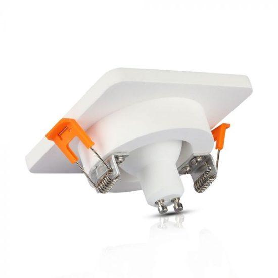 V-TAC LED SPOT BEÉPÍTŐ GIPSZKERET FÉM FOGLALATTAL / GU10 / 1-foglalat / fehér-rózsaarany / szögletes / fix / VT- 862 3117