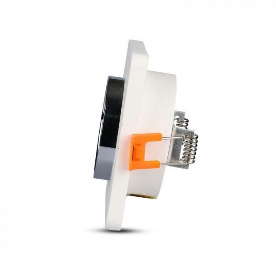 V-TAC LED SPOT BEÉPÍTŐ GIPSZKERET FÉM FOGLALATTAL / GU10 / 1-foglalat / fehér-króm / szögletes / fix / VT- 862 3119