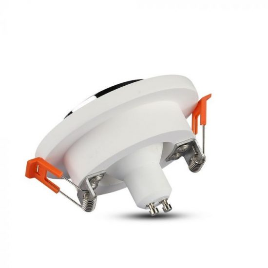 V-TAC LED SPOT BEÉPÍTŐ GIPSZKERET FÉM FOGLALATTAL / GU10 / 1-foglalat / fehér-króm / kerek / fix / VT- 862 3127