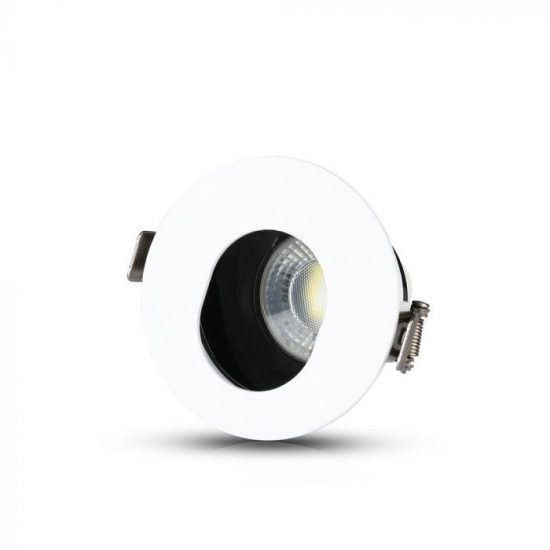 V-TAC LED SPOT BEÉPÍTŐ KERET / GU10 / 1-foglalat / fehér-fekete / kerek / billenthető / VT- 874 3161