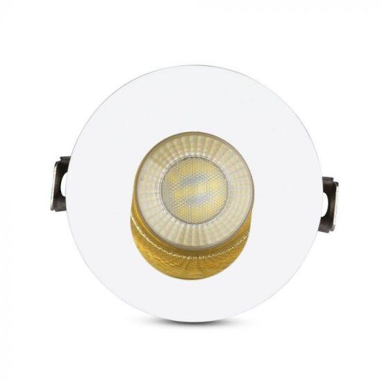 V-TAC LED SPOT BEÉPÍTŐ KERET / GU10 / 1-foglalat / fehér-arany / kerek / billenthető / VT- 874 3162