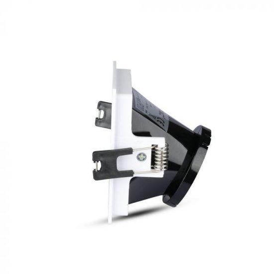V-TAC LED SPOT BEÉPÍTŐ KERET / GU10 / 1-foglalat / fehér-fekete / szögletes / billenthető / VT- 875 3165