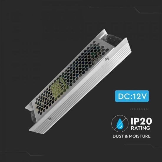 V-TAC TÁPEGYSÉG / 120W / FÉMHÁZ / IP20 / DC12V / 10A / VT-20122 3243