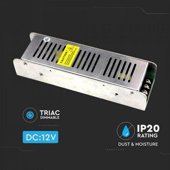 V-TAC DIMMELHETŐ TÁPEGYSÉG / 100W / FÉMHÁZ / IP20 / DC12V / 8.5A / VT-20101 3256
