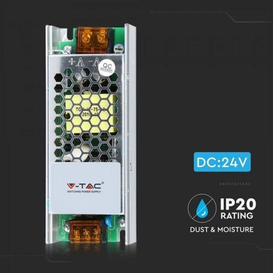 V-TAC TÁPEGYSÉG / 60W / FÉMHÁZ / IP20 / DC24V / 2.5A / VT-24061 3261
