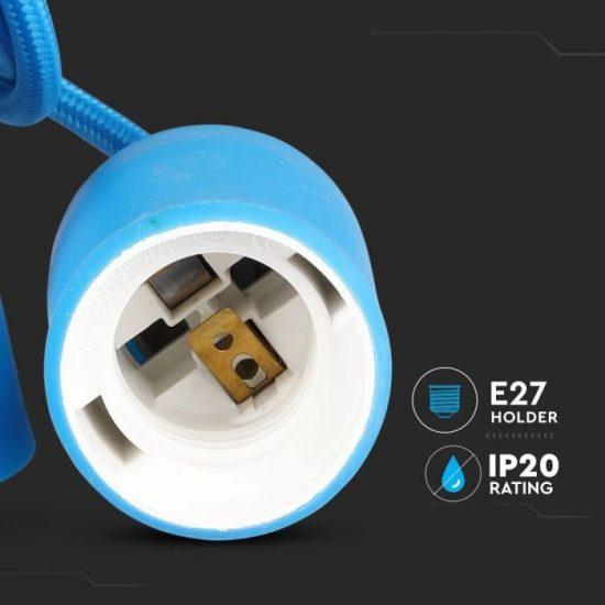 V-TAC E27 FÜGGESZTÉK / kék / VT-7228 3476