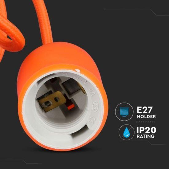 V-TAC E27 FÜGGESZTÉK / narancssárga / VT-7228 3484