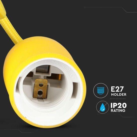 V-TAC E27 FÜGGESZTÉK / sárga / VT-7228 3485