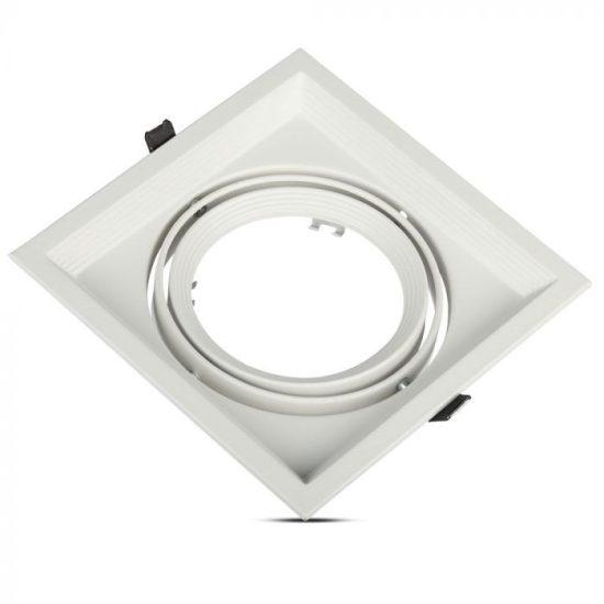 V-TAC LED SPOT BEÉPÍTŐ KERET  / AR111 / 1-foglalat / fehér / szögletes / billenthető / VT- 7221 3575