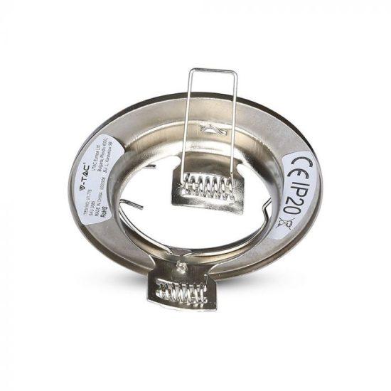 V-TAC GU10 beépítő keret / nikkel / VT-778 3585