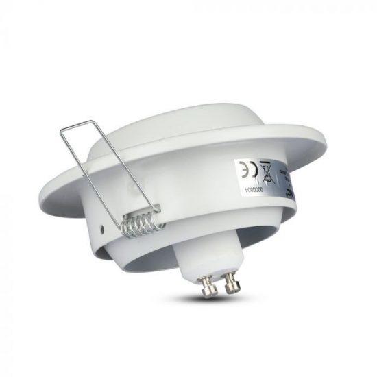 V-TAC LED SPOT BEÉPÍTŐ KERET / GU10 / 1-foglalat / fehér / kerek / billenthető / VT- 780 3593