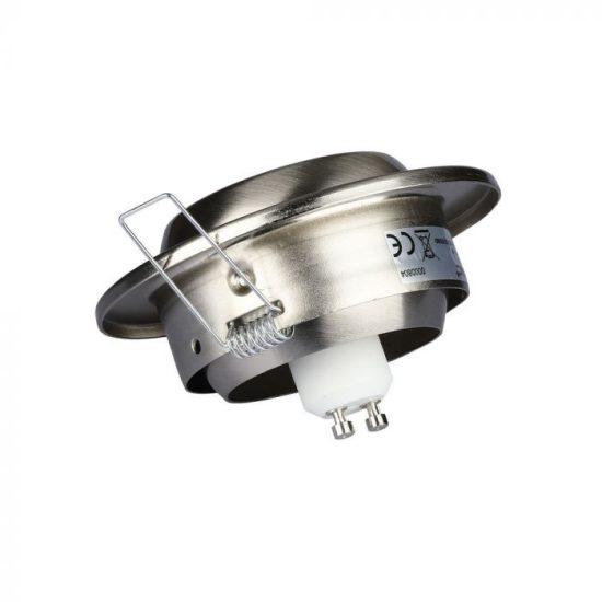 V-TAC LED SPOT BEÉPÍTŐ KERET / GU10 / 1-foglalat / nikkel / kerek / billenthető / VT- 780 3594