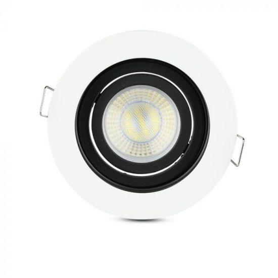 V-TAC LED SPOT BEÉPÍTŐ KERET / GU10 / 1-foglalat / fehér / kerek / billenthető / VT- 781 3595